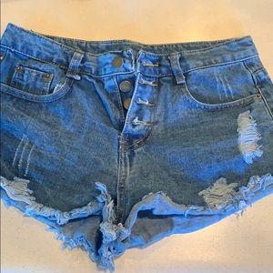 Butterfly denim shorts size medium